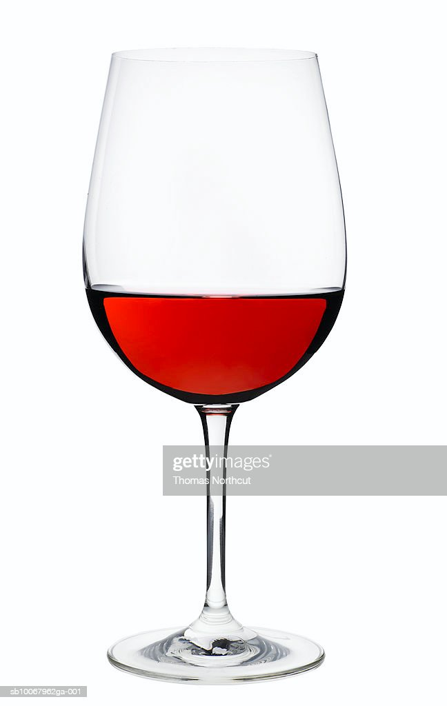 Red wine, studio shot : Stock Photo