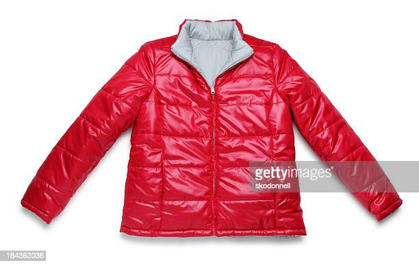 Red Winter Jacket on White