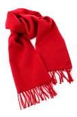 Red winter scarf against a white background.  You might also like the file shown below: