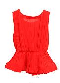Red, women, summer, fashion  on white background