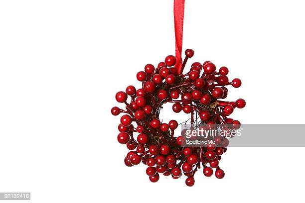 red wreath of berries
