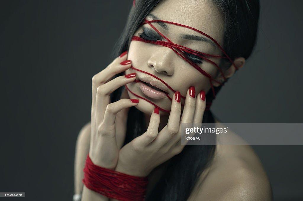 Red yarn : Stock Photo