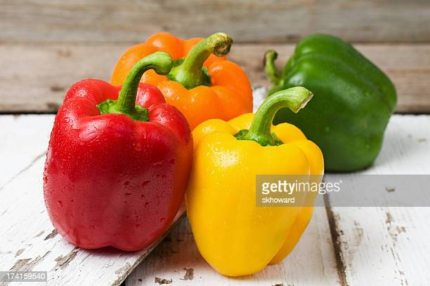 Red, Yellow, Orange and Green Bell Peppers