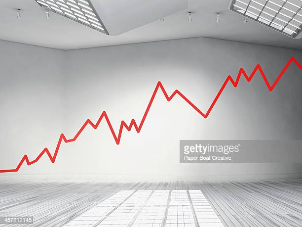 red zig zag line running across an art gallery