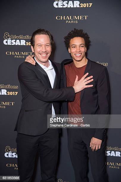 Reda Kateb and Corentin Fila attend the 'Cesar Revelations 2017' on January 16 2017 in Paris France