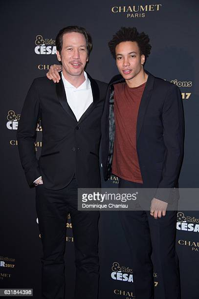 Reda Kateb and Corentin Fila attends the Cesar Revelations 2017' Photocall at Salon Chaumet on January 16 2017 in Paris France