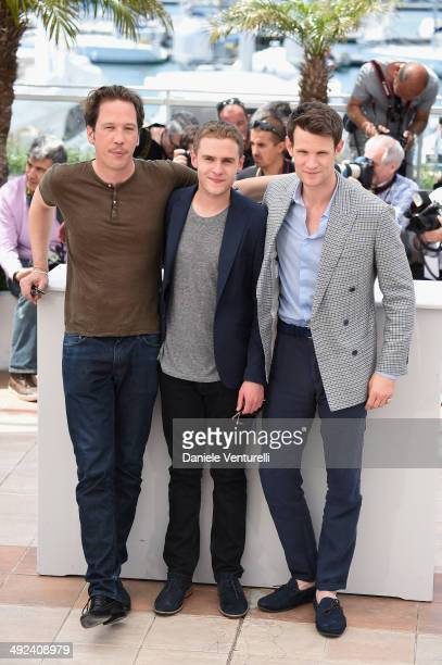Reda Kateb Iain De Caestecker and Matt Smith attend the 'Lost River' photocall during the 67th Annual Cannes Film Festival on May 20 2014 in Cannes...