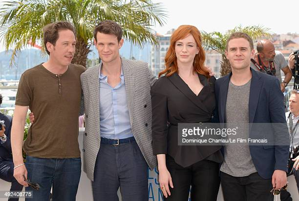 Reda Kateb Matt Smith Christina Hendricks and Iain De Caestecker attend the 'Lost River' photocall during the 67th Annual Cannes Film Festival on May...