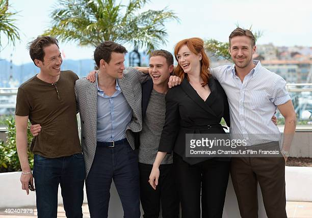Reda Kateb Matt Smith Iain De Caestecker Christina Hendricks and director Ryan Gosling attend the 'Lost River' photocall during the 67th Annual...