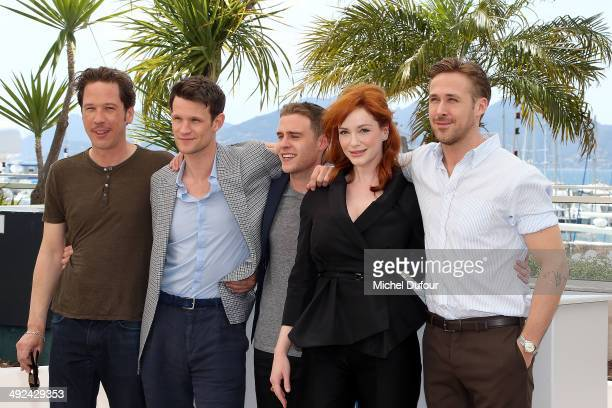 Reda Kateb Matt Smith Iain de Caestecker Christina Hendricks and Ryan Gosling attend the 'Lost River' photocall at the 67th Annual Cannes Film...