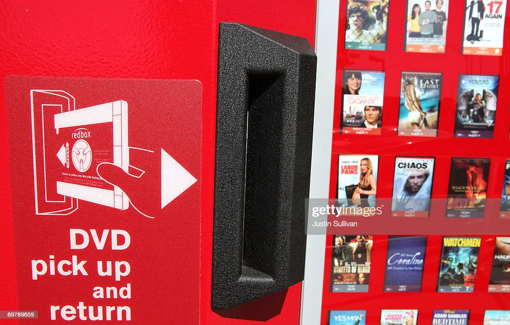 A RedBox video rental kiosk sits in front of a gas station August 14, 2009 in San Rafael, California. Movie studios are making an attempt to limit new release movies to the fast growing DVD rental kiosk company RedBox in protest of their extremely low rental prices.