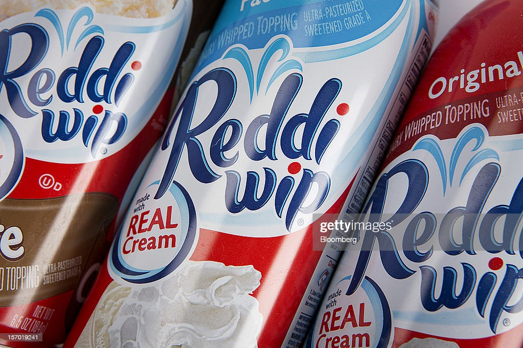 Reddi Wip whipped topping, a food product made by ConAgra Foods Inc., is arranged for a photograph in New York, U.S., on Tuesday, Nov. 27, 2012. ConAgra Foods Inc. agreed to acquire Ralcorp Holdings Inc. for about $5 billion, creating one of the largest packaged food companies in North America and concluding a pursuit that included three rejections since March last year. Photographer: Scott Eells/Bloomberg via Getty Images