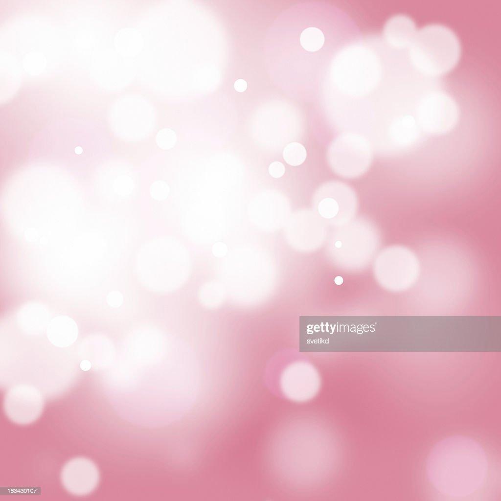 Reddish pink bokeh.