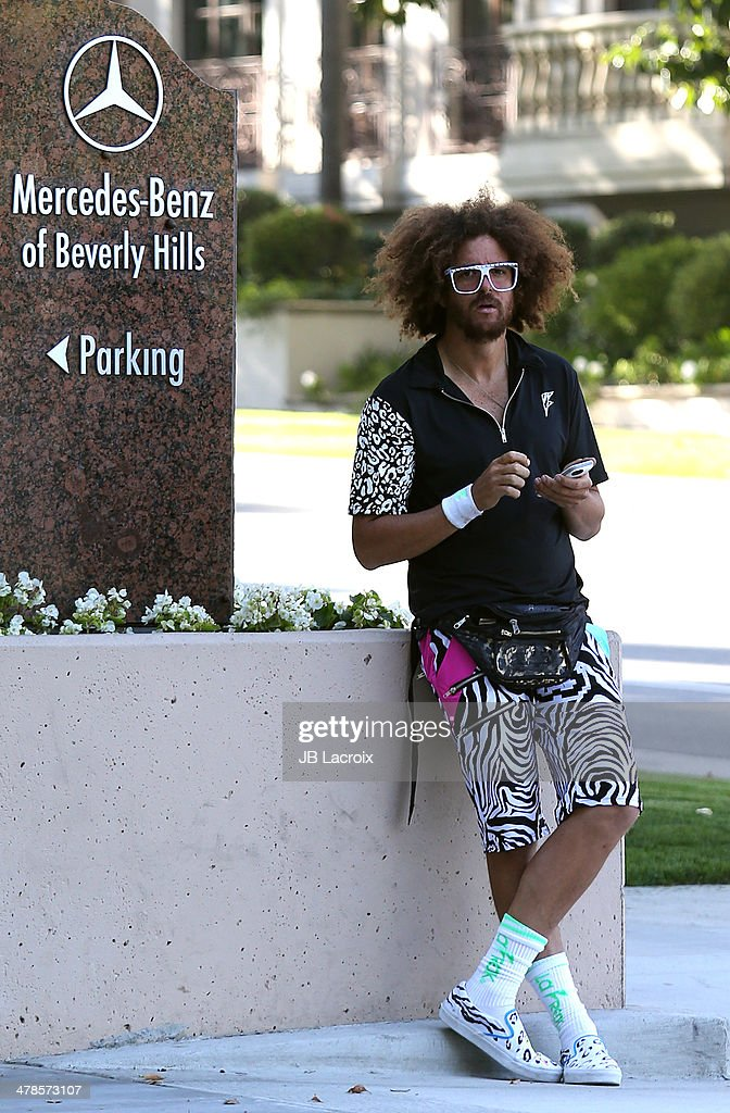 <a gi-track='captionPersonalityLinkClicked' href=/galleries/search?phrase=Redfoo&family=editorial&specificpeople=5857552 ng-click='$event.stopPropagation()'>Redfoo</a> aka Stefan Kendal Gordy is seen shopping at Mercedes-Benz on March 13, 2014 in Los Angeles, California.