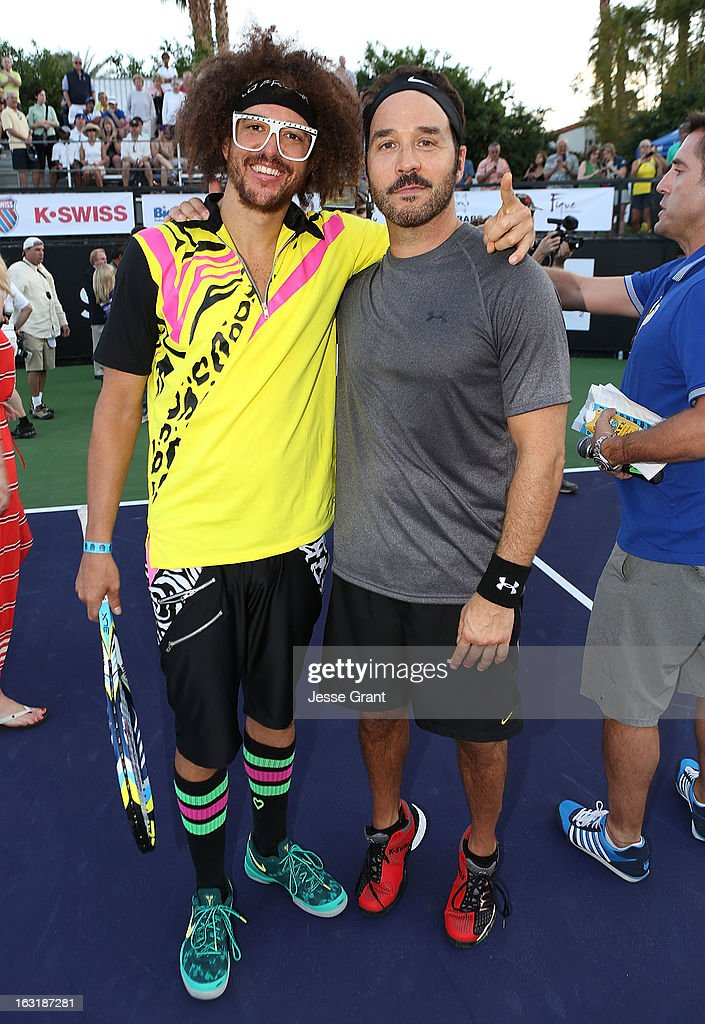 Redfoo and Jeremy Piven attend The 9th Annual KSwiss Desert Smash Charity Tennis Event Benefiting Variety The Children's Charity of The Desert at La...