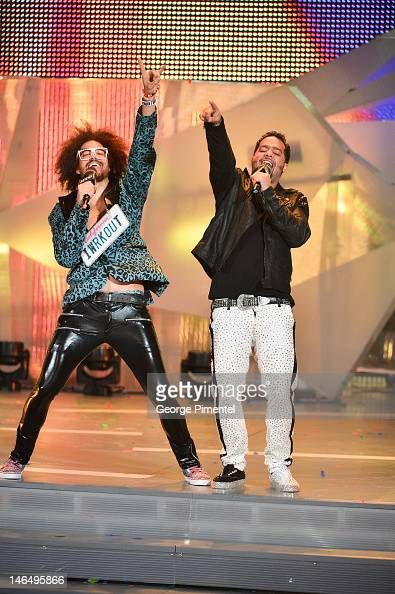 Redfoo and SkyBlu of LMFAO during the 2012 MuchMusic Video Awardsat MuchMusic HQ on June 17 2012 in Toronto Canada