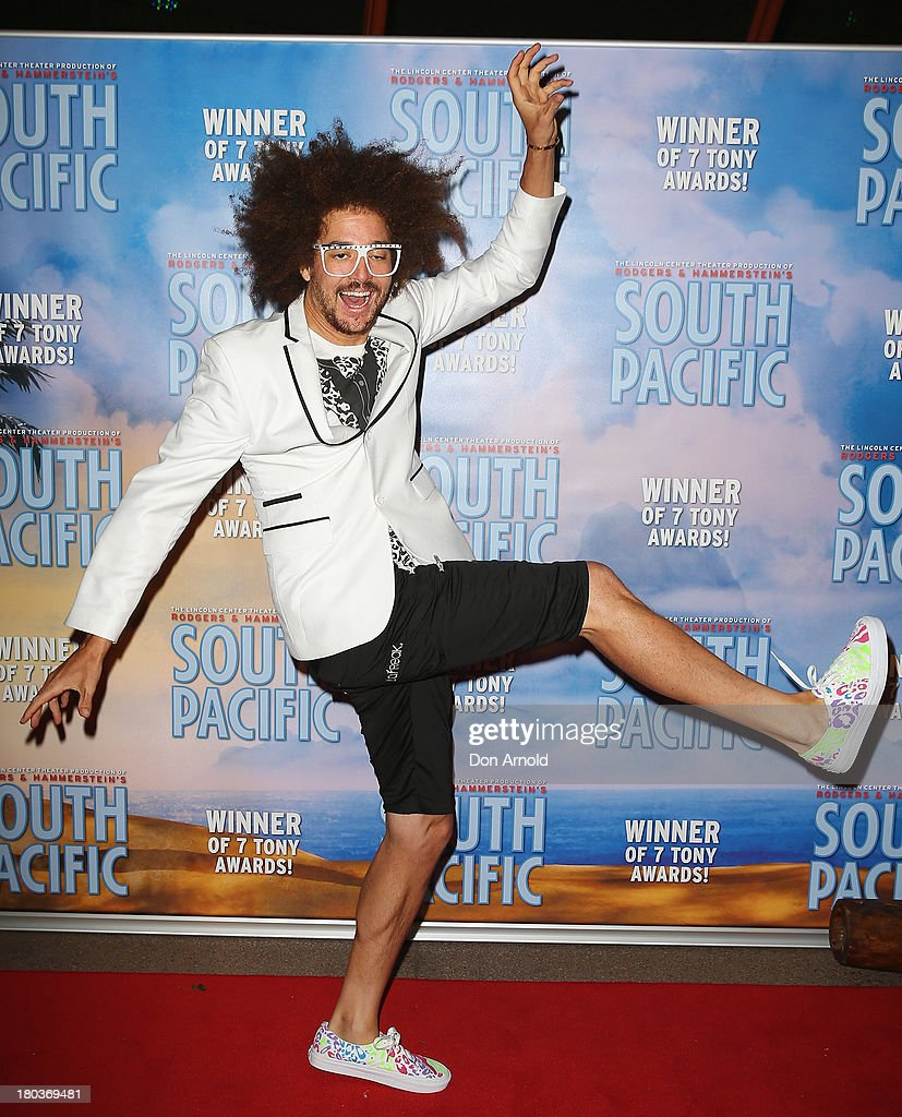 <a gi-track='captionPersonalityLinkClicked' href=/galleries/search?phrase=Redfoo&family=editorial&specificpeople=5857552 ng-click='$event.stopPropagation()'>Redfoo</a> arrives at Opera Australia's 'South Pacific' opening night at the Sydney Opera House on September 12, 2013 in Sydney, Australia.