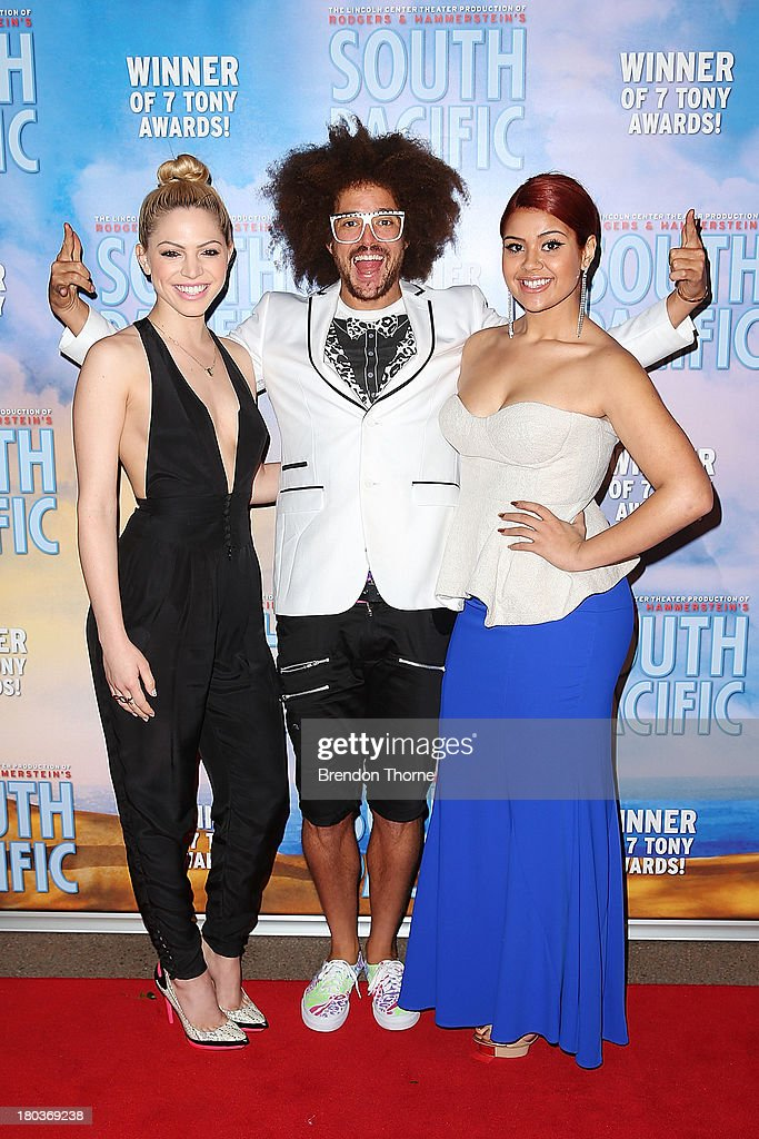 <a gi-track='captionPersonalityLinkClicked' href=/galleries/search?phrase=Redfoo&family=editorial&specificpeople=5857552 ng-click='$event.stopPropagation()'>Redfoo</a>, Joelle and Ellie Lovegrove arrives at Opera Australia's 'South Pacific' opening night at the Sydney Opera House on September 12, 2013 in Sydney, Australia.