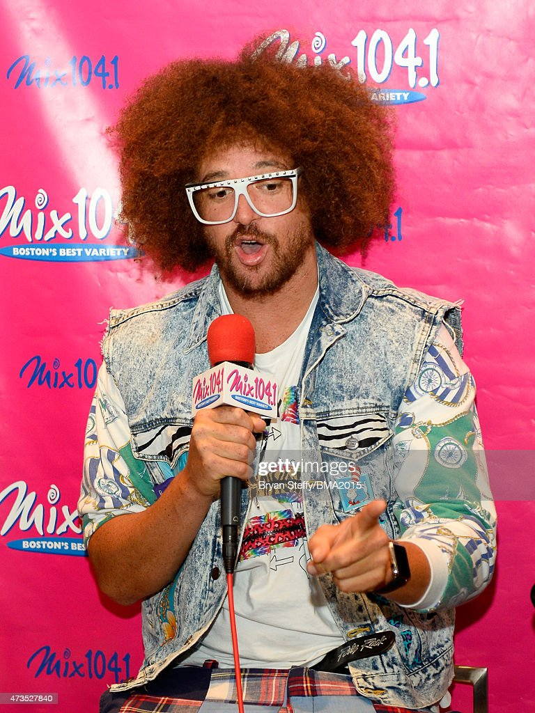 <a gi-track='captionPersonalityLinkClicked' href=/galleries/search?phrase=Redfoo&family=editorial&specificpeople=5857552 ng-click='$event.stopPropagation()'>Redfoo</a> of <a gi-track='captionPersonalityLinkClicked' href=/galleries/search?phrase=LMFAO&family=editorial&specificpeople=5419624 ng-click='$event.stopPropagation()'>LMFAO</a> at Radio Row during the 2015 Billboard Music Awards at MGM Grand Garden Arena on May 15, 2015 in Las Vegas, Nevada.