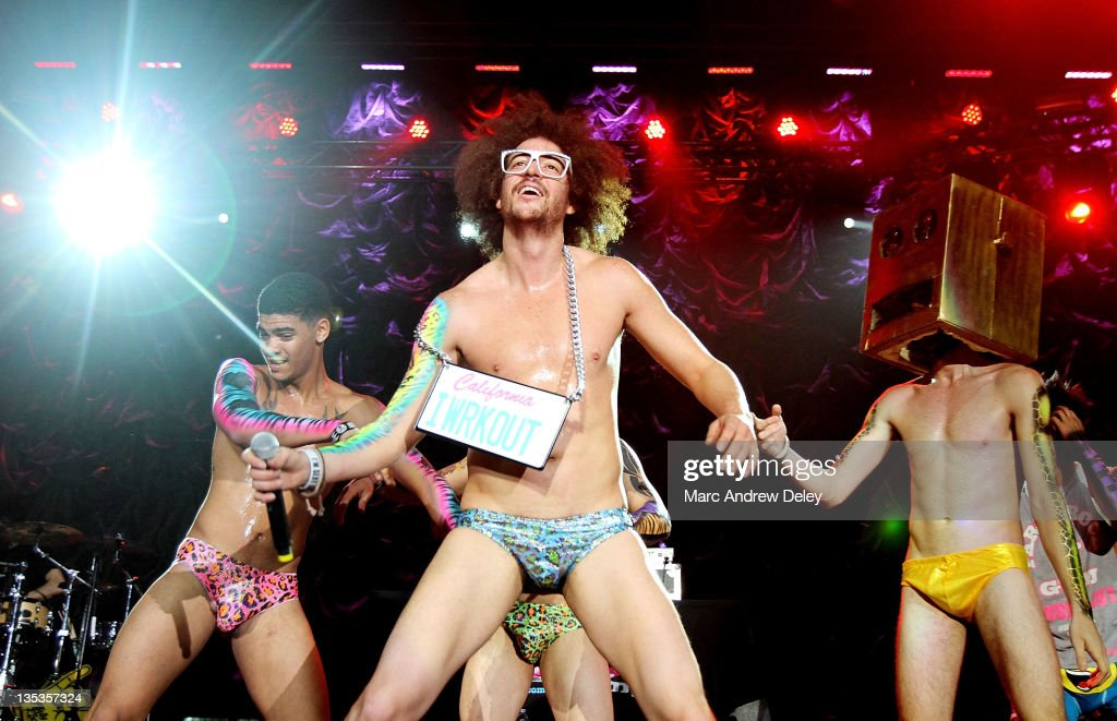 <a gi-track='captionPersonalityLinkClicked' href=/galleries/search?phrase=Redfoo&family=editorial&specificpeople=5857552 ng-click='$event.stopPropagation()'>Redfoo</a> of <a gi-track='captionPersonalityLinkClicked' href=/galleries/search?phrase=LMFAO&family=editorial&specificpeople=5419624 ng-click='$event.stopPropagation()'>LMFAO</a> performs at Kiss 108 FM's Jingle Ball 2011 at the Tsongas Center in Lowell, MA on December 8, 2011.