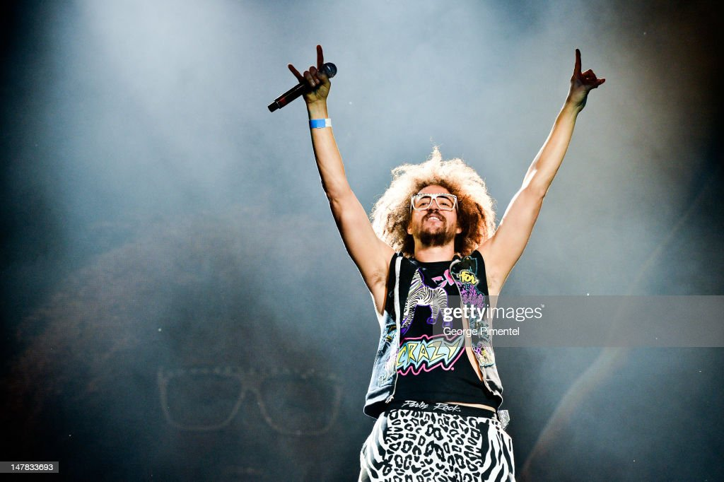 <a gi-track='captionPersonalityLinkClicked' href=/galleries/search?phrase=Redfoo&family=editorial&specificpeople=5857552 ng-click='$event.stopPropagation()'>Redfoo</a> of LMFAO performs at Molson Amphitheatre on July 4, 2012 in Toronto, Canada.