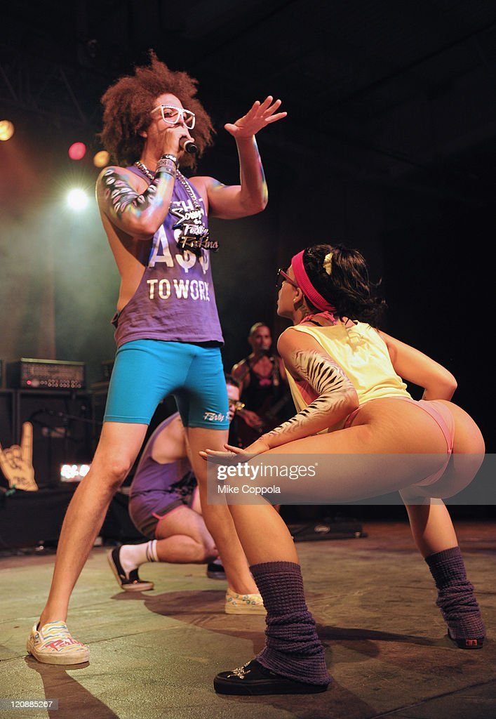 Redfoo of the group LMFAO performs at Billboard's Summer Blowout Concert at Pier 36 on August 11 2011 in New York City