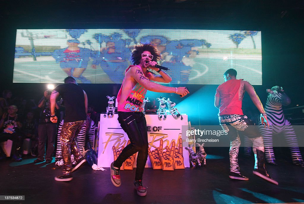 <a gi-track='captionPersonalityLinkClicked' href=/galleries/search?phrase=Redfoo&family=editorial&specificpeople=5857552 ng-click='$event.stopPropagation()'>Redfoo</a> perfoms onstage at a DJ Set by Red Foo of <a gi-track='captionPersonalityLinkClicked' href=/galleries/search?phrase=LMFAO&family=editorial&specificpeople=5419624 ng-click='$event.stopPropagation()'>LMFAO</a> & The Party Rock Crew at Park City Live on January 21, 2012 in Park City, Utah.