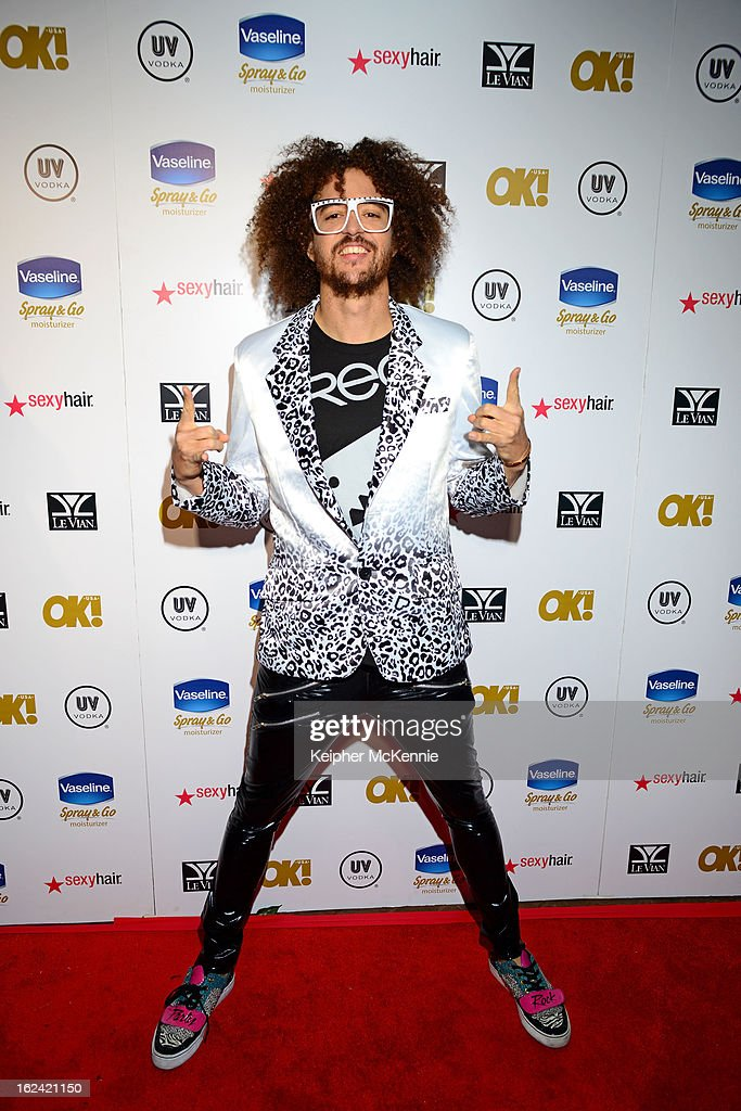 <a gi-track='captionPersonalityLinkClicked' href=/galleries/search?phrase=Redfoo&family=editorial&specificpeople=5857552 ng-click='$event.stopPropagation()'>Redfoo</a> steps on the red carpet at OK! Magazine Pre-Oscar Party at The Emerson Theatre on February 22, 2013 in Hollywood, California.