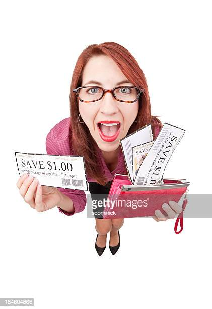 Redhead Excited About Coupons