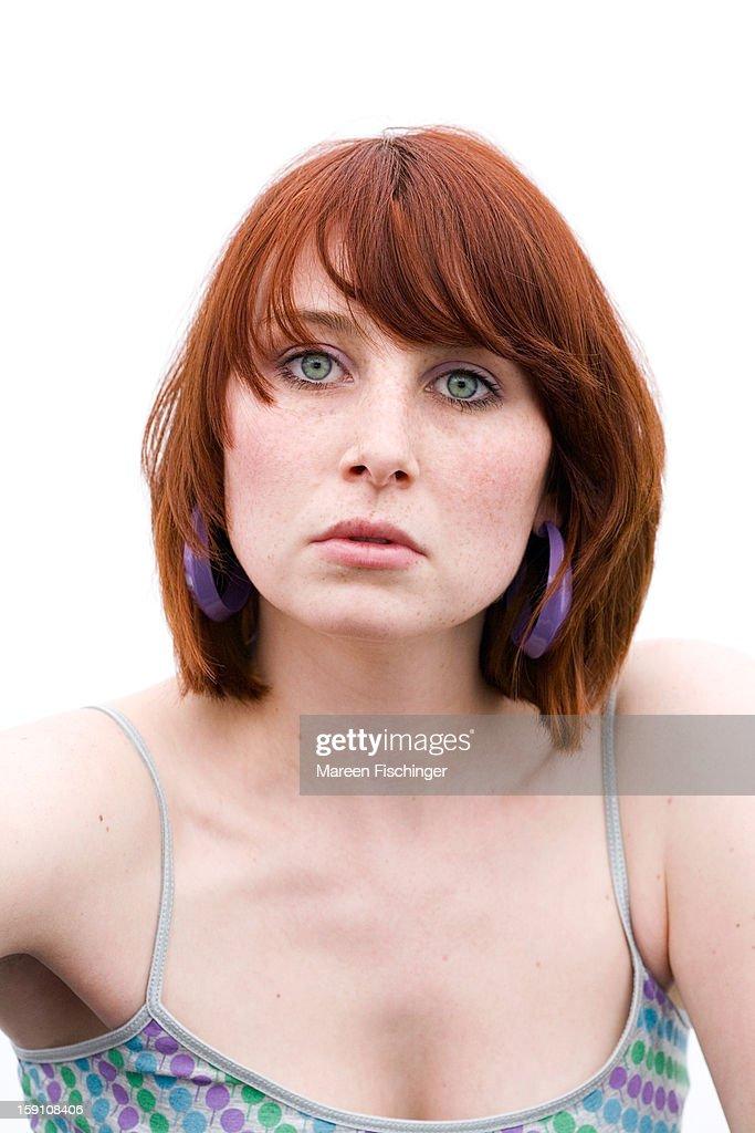 Red-head Girl in White Light