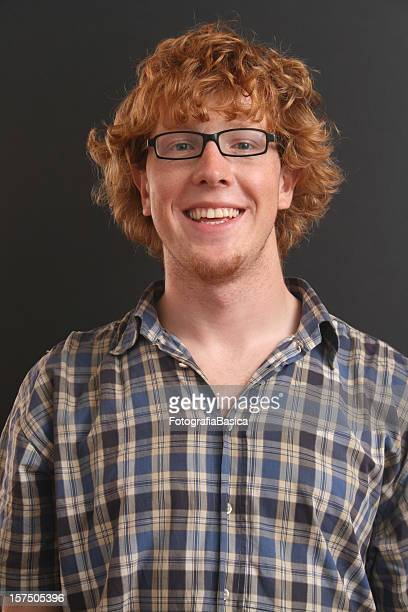 Redhead male smiling
