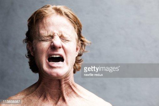 Redhead screaming