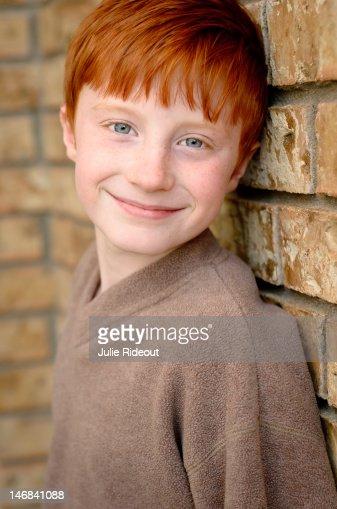 Redheaded Boy : Stock Photo