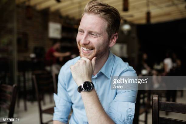 Redheaded Web Developer smiling