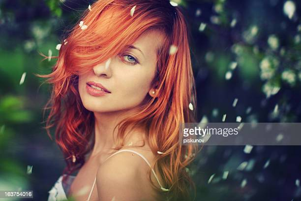 Redheaded Woman in Park