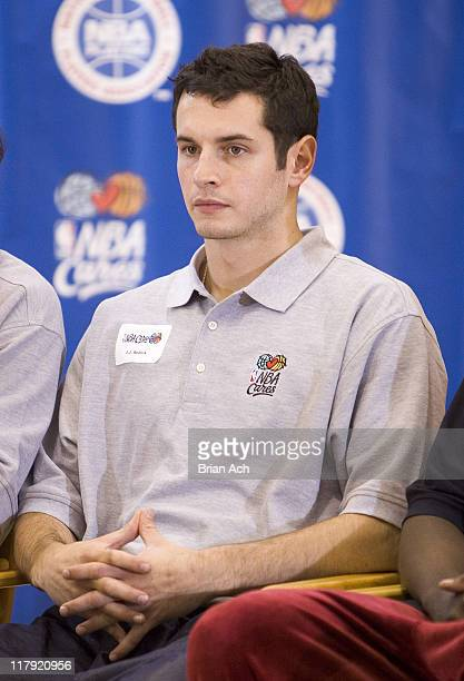 JJ Redick during Top 2006 NBA Draft Prospects Take Part in Jr NBA/JR WNBA Fitness Clinic with Kids at Baruch College June 27 2006 at Baruch College...
