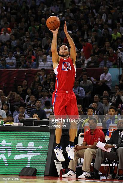 J Redick of Los Angeles Clippers shoots during the match between Charlotte Hornets and Los Angeles Clippers as part of the 2015 Global Games China at...