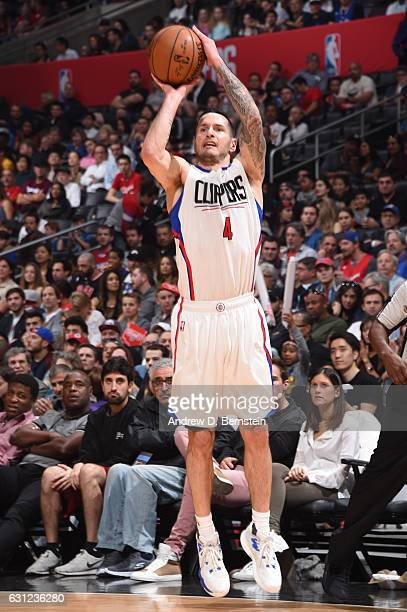 J Redick of the LA Clippers shoots the ball against the Miami Heat during the game on January 8 2017 at STAPLES Center in Los Angeles California NOTE...