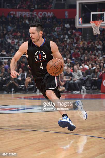 J Redick of the Los Angeles Clippers drives to the basket against the Houston Rockets on November 7 2015 at STAPLES Center in Los Angeles California...
