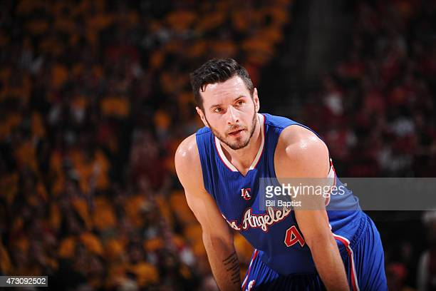 J Redick of the Los Angeles Clippers during Game Five of the Western Conference Semifinals against the Houston Rockets during the NBA Playoffs on May...
