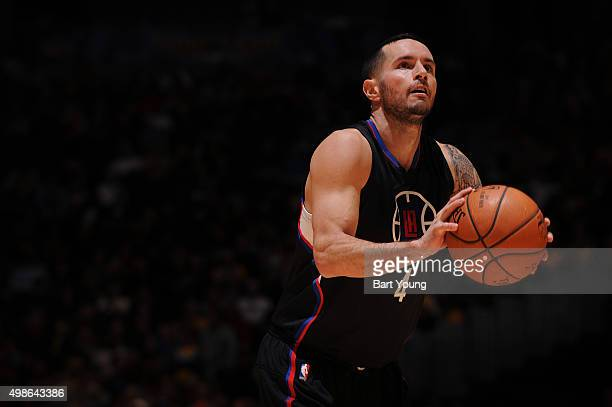 J Redick of the Los Angeles Clippers shoots a free throw against the Denver Nuggets on November 24 2015 at the Pepsi Center in Denver Colorado NOTE...