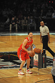 Redick of the Los Angeles Clippers shoots during the Foot Locker Three Point Contest on State Farm AllStar Saturday Night as part of the 2015 NBA...