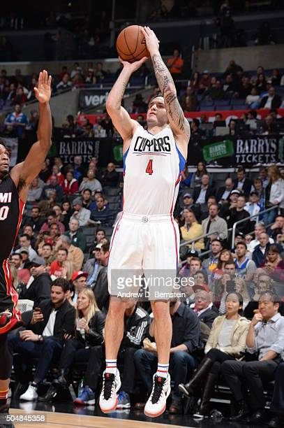 J Redick of the Los Angeles Clippers shoots the ball against the Miami Heat on January 13 2016 at STAPLES Center in Los Angeles California NOTE TO...
