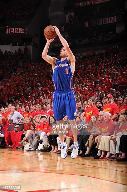 J Redick of the Los Angeles Clippers takes a shot against the Houston Rockets in Game Seven of the Western Conference Semifinals during the 2015 NBA...
