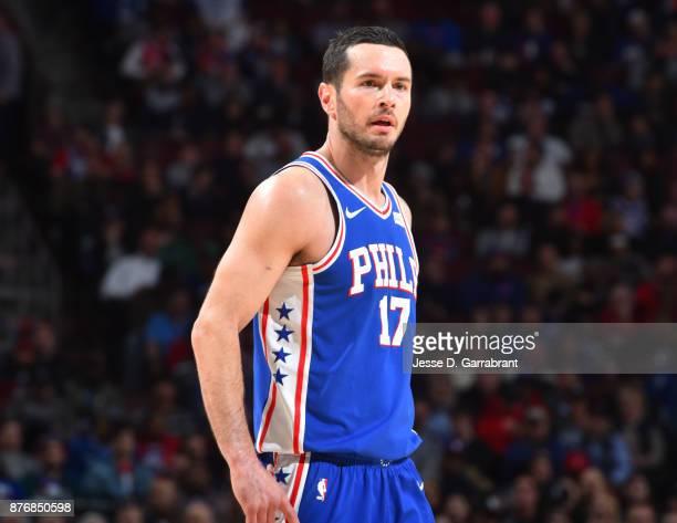 Redick of the Philadelphia 76ers looks on against the Utah Jazz at Wells Fargo Center on November 20 2017 in Philadelphia Pennsylvania NOTE TO USER...