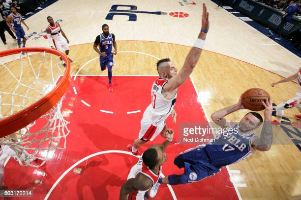 Redick of the Philadelphia 76ers shoots the ball against the Washington Wizards on October 18 2017 at Capital One Arena in Washington DC NOTE TO USER...