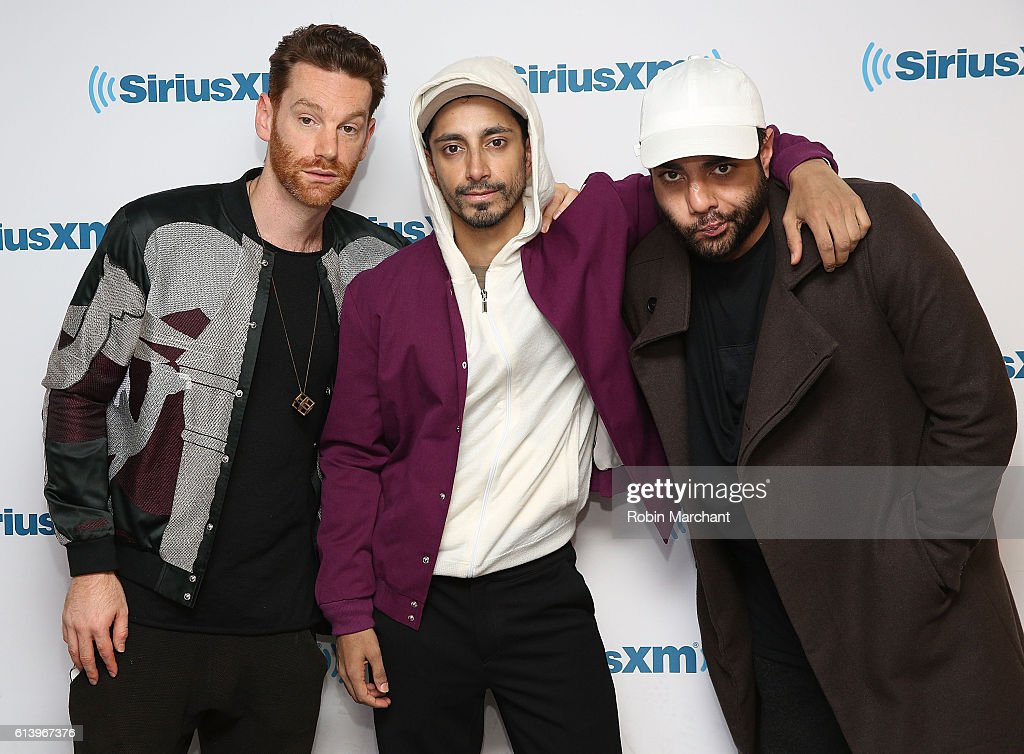 Redinho, Riz Ahmed and Heems of Swet Shop Boys visits at SiriusXM Studio on October 11, 2016 in New York City.