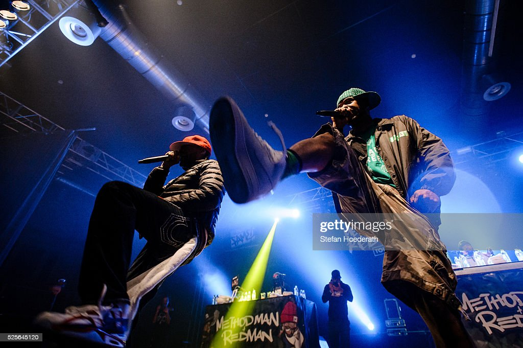 Redman and Method Man of Method Man & Redman perform live on stage during a concert at Huxleys Neue Welt on April 28, 2016 in Berlin, Berlin.