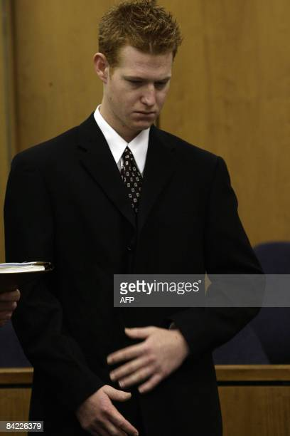 Redmond O'Neal Ryan O'Neal son stands inside of the courthouse in Malibu California January 9 2009 Hollywood actor Ryan O'Neal on Friday pleaded...