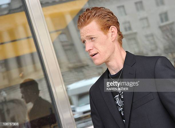 Redmond O'Neal son of actor Ryan O'neal and the late actress Farah Fawcett following a ceremony in which items belonging to Fawcett were enshrined in...